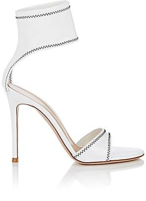 Gianvito Rossi Women's Vinyl Ankle-Strap Sandals - White