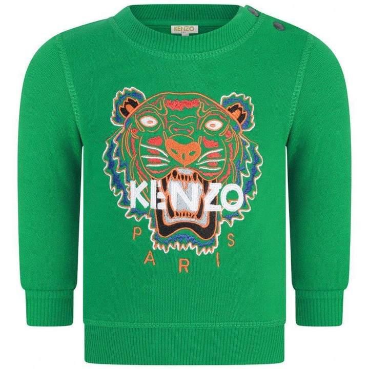 KidsBaby Boys Green Tiger Sweater