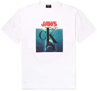 Calvin Klein Jaws Printed Cotton-Jersey T-Shirt