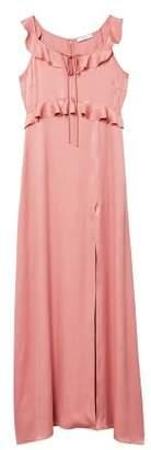 MANGO Ruffle gown