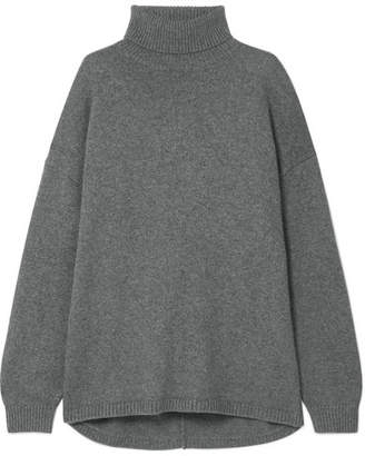 Tibi Oversized Cashmere Turtleneck Sweater - Dark gray