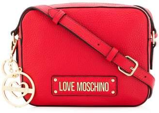 Love Moschino logo plaque crossbody bag