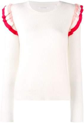 Parker Chinti & colour-block ruffle sweater