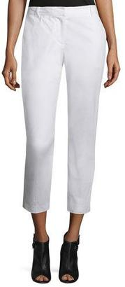 DKNY Cropped Stretch-Twill Pants, White $235 thestylecure.com