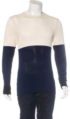 Ovadia & Sons Color Block Crew Neck Sweater