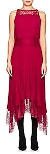 A.L.C. Women's Matilda Pleated Asymmetric Dress-Wine Size 0