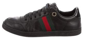 Gucci Web-Trimmed Low-Top Sneakers