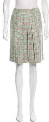 Cacharel Plaid Pleated Skirt