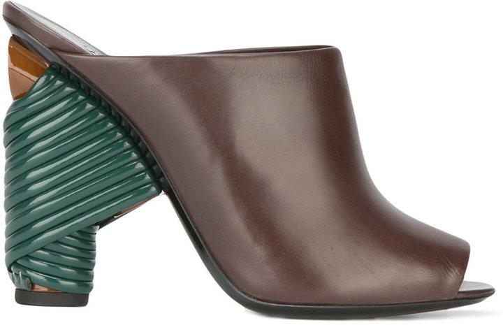 Balenciaga Balenciaga tie up heel mules