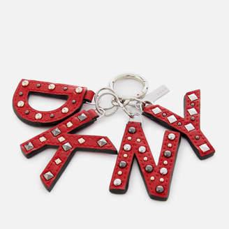 DKNY Women's Leather Key Fob with Studs