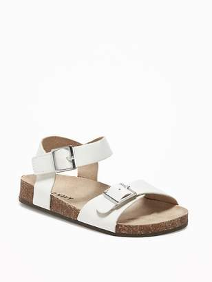 Faux-Leather Double-Strap Sandals for Toddler Girls $16.94 thestylecure.com