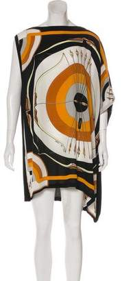 Hermes Arcs En Ciel Silk & Cashmere Dress