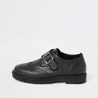 62021f74a0736 Boys Leather Black Velcro Shoes - ShopStyle UK
