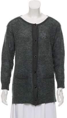 3.1 Phillip Lim Merino Wool Button-Up Cardigan Blue Merino Wool Button-Up Cardigan