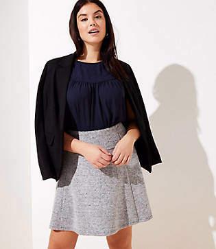 LOFT Plus Pull On Flippy Skirt