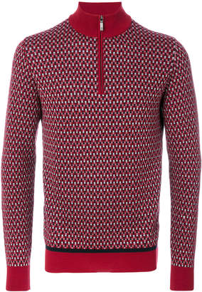 Brioni zipped collar sweater