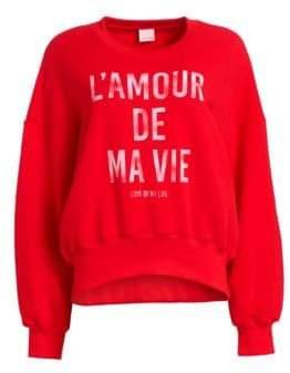 Cinq à Sept L'Amour De Ma Vie Cotton Sweatshirt