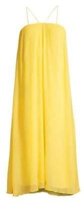 Paloma Pleated Chiffon Trapeze Dress