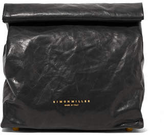 Simon Miller Lunchbag 20 Crinkled-leather Clutch - Black