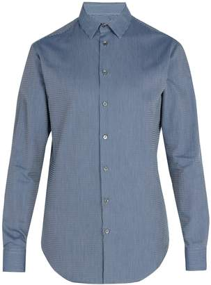 Giorgio Armani Zig-zag pattern cotton shirt