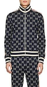 Gucci Men's GG Supreme Knit Cotton Track Jacket - Navy