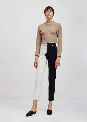 Eckhaus Latta Two Tone Tapered El Jean Black and White