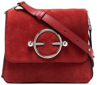 J.W.Anderson red Disc suede and leather cross-body bag