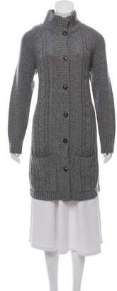 Amina Rubinacci Button-Up Wool Cardigan