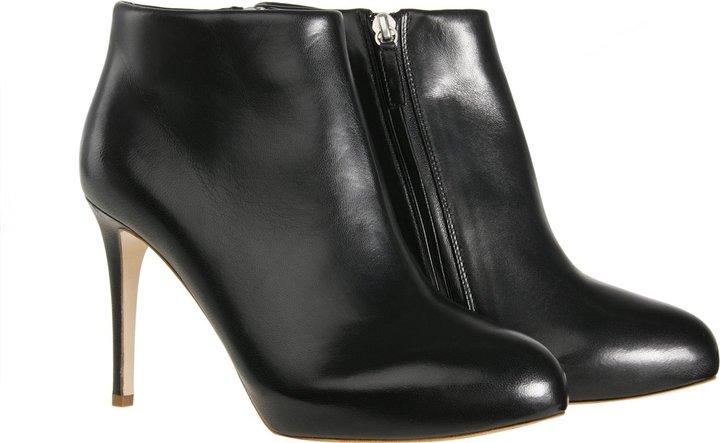Rupert Sanderson Midnight Black Leather Booties
