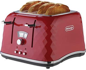De'Longhi Brillante 4 Slice Toaster - Red