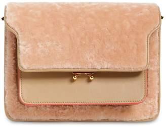 Marni Medium Trunk Shearling Shoulder Bag