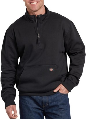 Dickies Men's Mobility Quarter-Zip Fleece Pull-Over Jacket