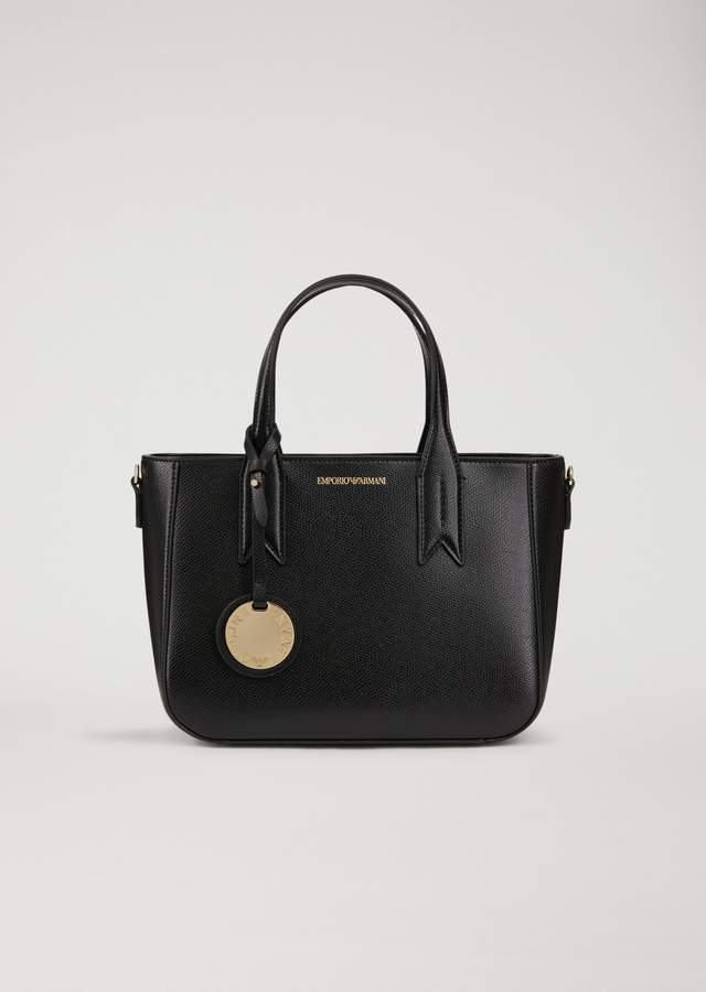 EMPORIO ARMANI handbag with logo pendant