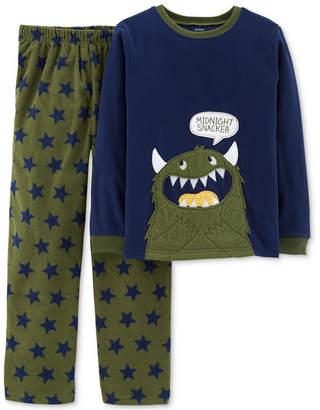 Carter's Little & Big Boys 2-Pc. Midnight Snacker Fleece Pajama Set