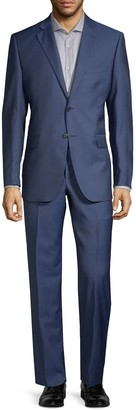 Saks Fifth Avenue Two-Piece Slim-Fit Wool Silk Herringbone Suit