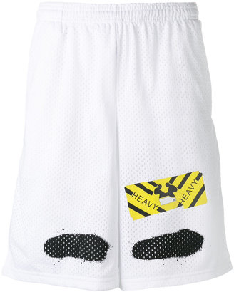 Off-White perforated shorts $255 thestylecure.com