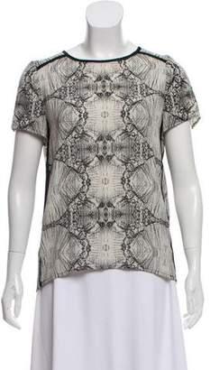 J Brand Printed Short Sleeve Top