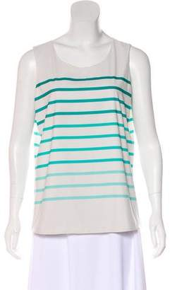 Calvin Klein Stripe Print Sleeveless Blouse