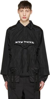 KTZ Black Gathered Pocket Shirt $590 thestylecure.com