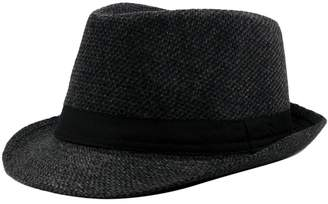 fd5731645fbf1 Zhuhaitf Vintage Wide Brim Mens Woolen Fedora Hat 3 Colors Autumn Winter Jazz  Cap