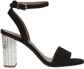 Lola Cruz Black Suede Black Sandals