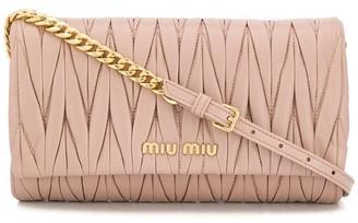 Miu Miu matelassé nappa leather shoulder bag