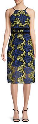 Sam Edelman Two-Tone Floral Lace Midi Dress