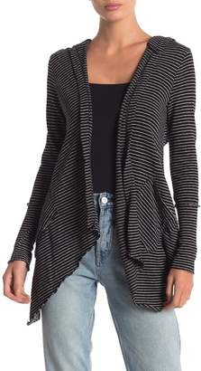 Anama Open Front Striped Cardigan
