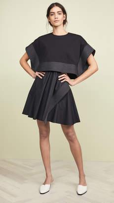 3.1 Phillip Lim Poplin Box Cropped Top Dress