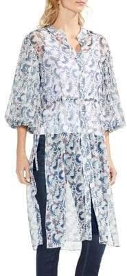 Vince Camuto Side-Tie Boutique Floral Tunic