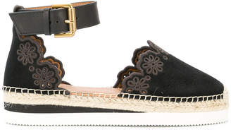 See by Chloe scalloped espadrille pumps