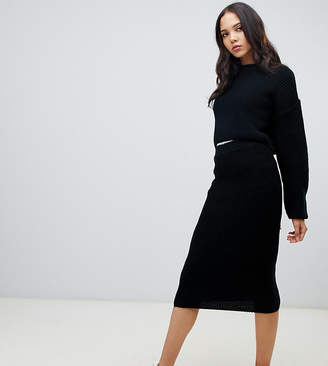 Asos Tall DESIGN Tall two-piece skirt in rib knit