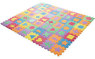 Hey! Play! Foam Floor Shapes Puzzle Learning Ma