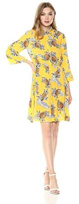 Wild Meadow Women's Pineapple Print Shirtdress XL Multi